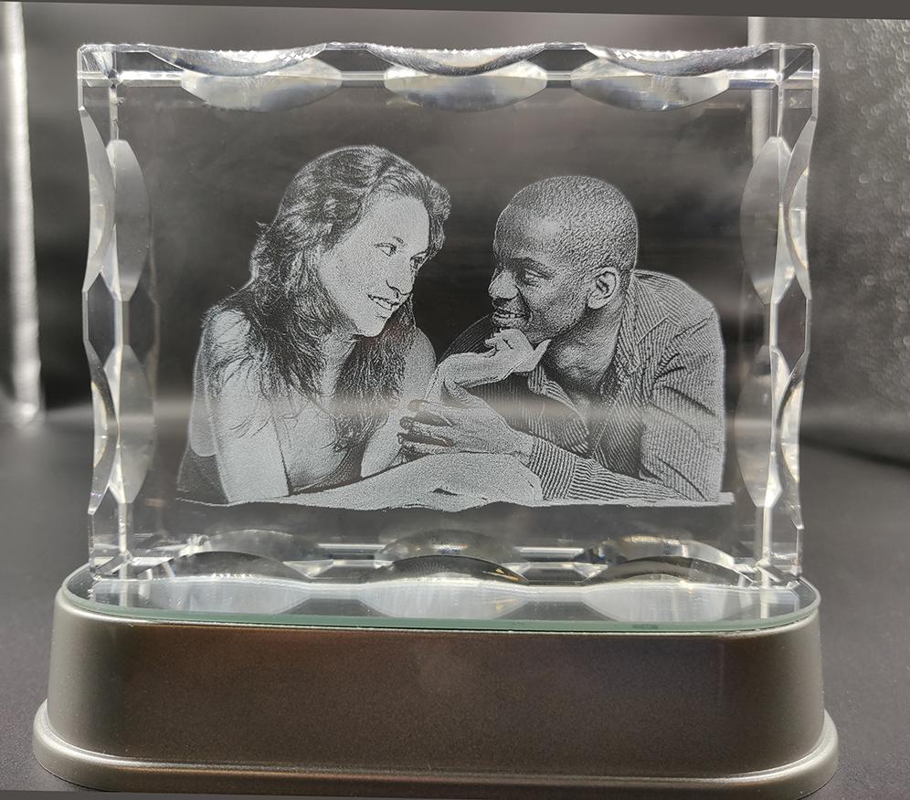 3D Photo Crystal 120x90x30mm