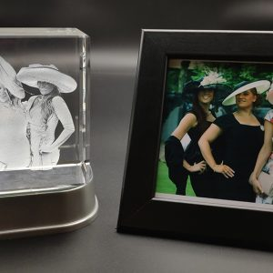 Ladies Day Out Photo engraved inside a crystal
